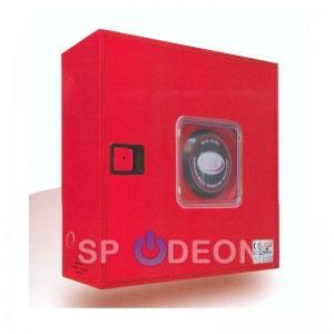 BIE Abatible 25 mm Manguera 20 mts con Puerta Semiciega Roja con Visor.