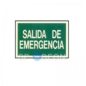 """Señal de """"Salida de Emergencia"""" poliestireno fotoluminiscente 297x210 (din A4)"""