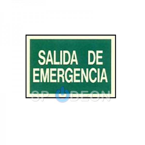 """Señal-de-""""Salida-de-Emergencia""""-poliestireno-fotoluminiscente-297x210-(din-A4)"""