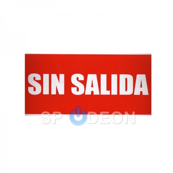 "Señal-de-""Sin-Salida""-poliestireno-fotoluminiscente-297x210-(din-A4)"