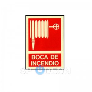 Señal de Boca de Incendio poliestireno fotoluminiscente 297x210 (din A4)