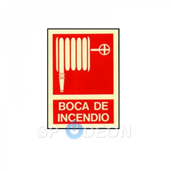 Señal-de-Boca-de-Incendio-poliestireno-fotoluminiscente-297x210-(din-A4)