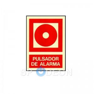 Señal de Pulsador poliestireno fotoluminiscente 297x210 (din A4)