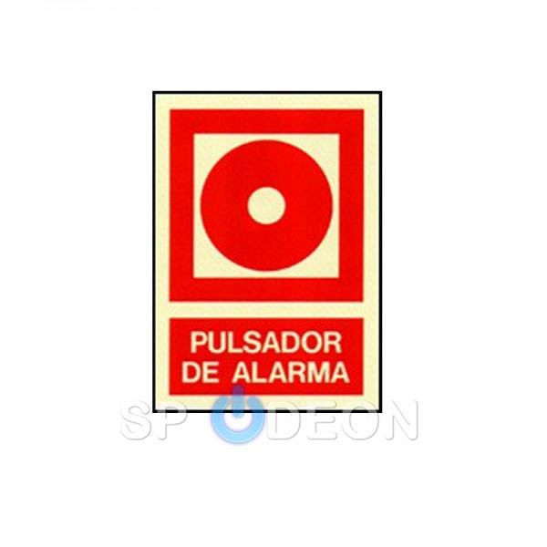 Señal-de-Pulsador-poliestireno-fotoluminiscente-297x210-(din-A4)
