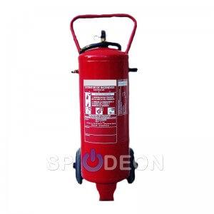 Extintor de polvo ABC de 25 kg sobre ruedas
