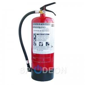 Extintor de polvo ABC de 6 kg ALTA EFICACIA 34A 233B