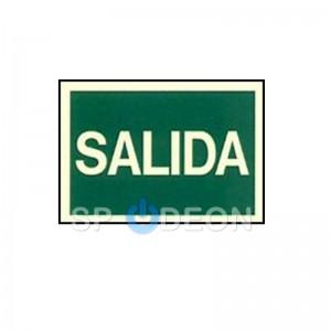 "Señal de""Salida"" poliestireno fotoluminiscente 297x210 (din A4)"