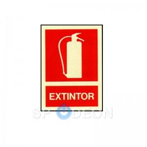 Señal de Extintor poliestireno fotoluminiscente 297x210 (din A4)