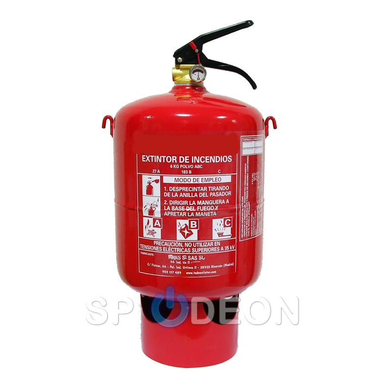 Extintor automático polvo ABC 6 kg