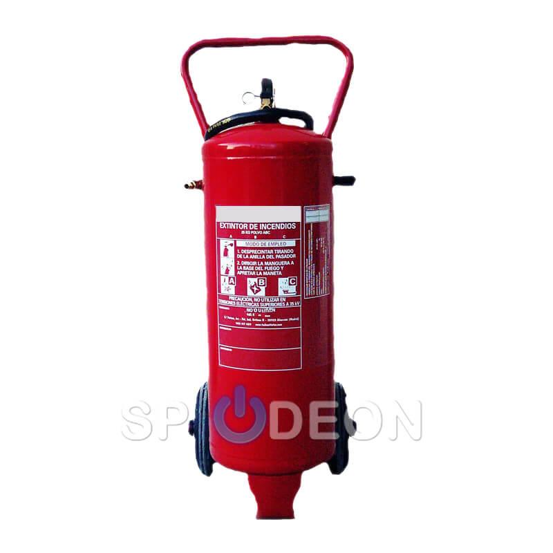 Extintor sobre ruedas polvo ABC 25 kg