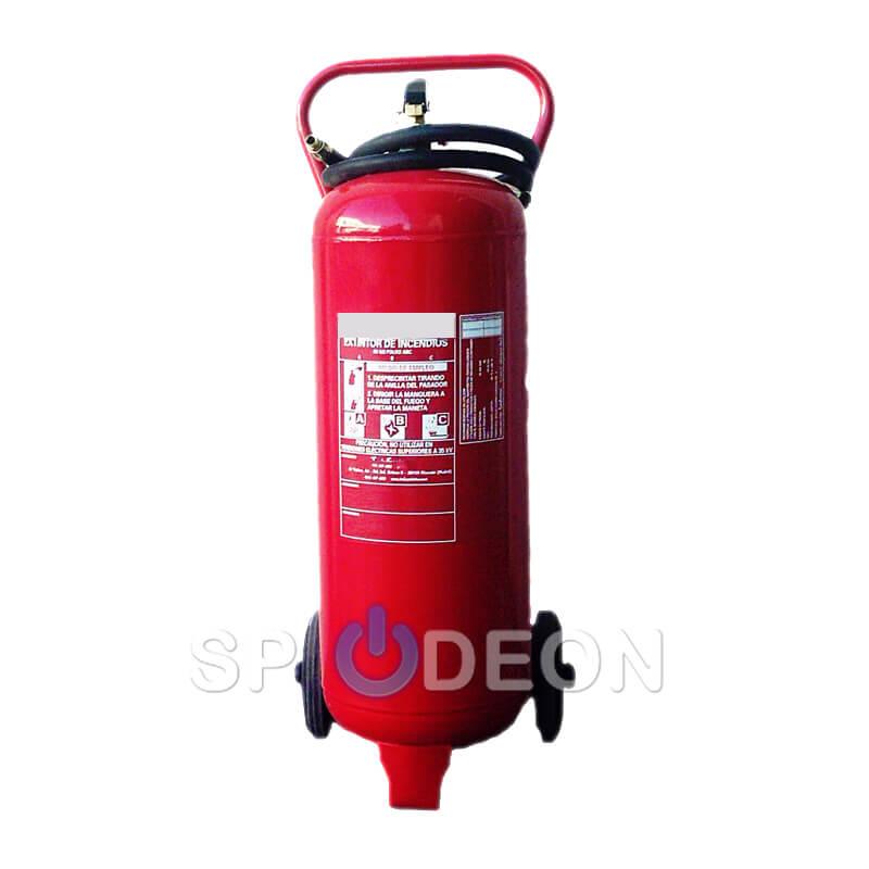 Extintor sobre ruedas polvo ABC 50 kg