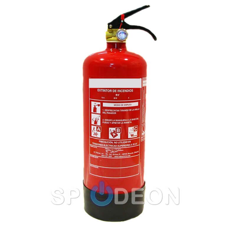 Extintor polvo abc 2 kg